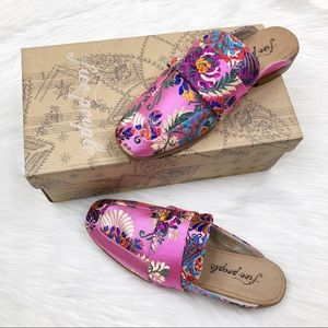 Free People Brocade At Ease Loafer Slip-On Shoes 7